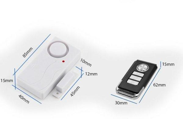 Alarme maison sécurité anti-effraction détecteur d'ouverture porte et fenêtre 4