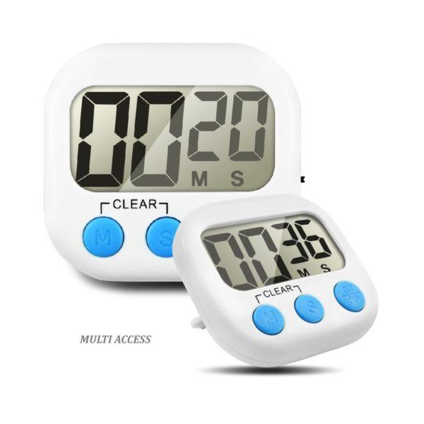 Minuteur de cuisine numérique digital écran LCD alarme sonore (2)