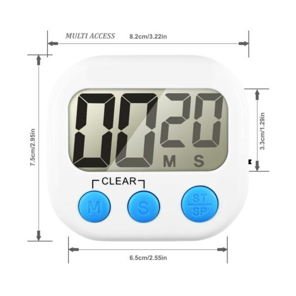 Minuteur de cuisine numérique digital écran LCD alarme sonore (3)