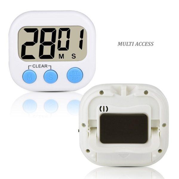 Minuteur de cuisine numérique digital écran LCD alarme sonore (4)