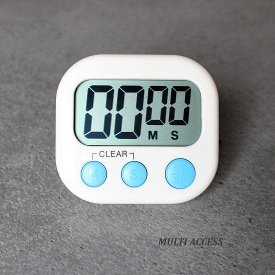 Minuteur de cuisine numérique digital écran LCD alarme sonore (1)