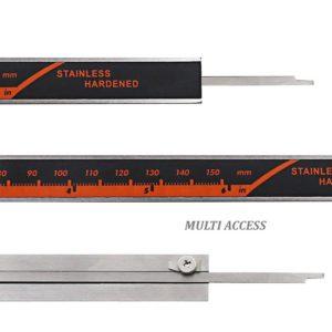 Pied à Coulisse micromètre digital LCD 150mm Vernier acier inoxydable + Pile