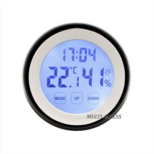 Thermomètre Hygromètre Digital LCD Tactile Température/Humidité