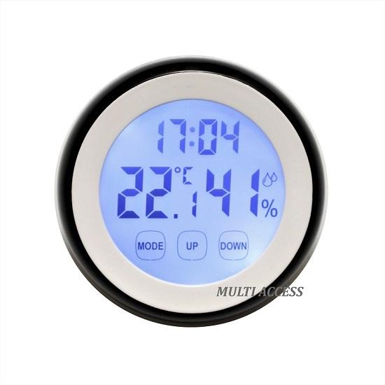 Thermomètre Hygromètre Digital LCD Tactile Température Humidité multi-access.fr