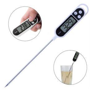 Thermomètre de Cuisson / Cuisine Numérique en Inox alimentaire