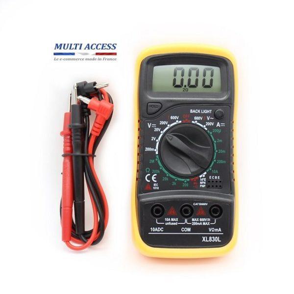 1 Multimètre Numérique Digital XL830L Voltmètre Testeur Electrique digital écran LCD 600V