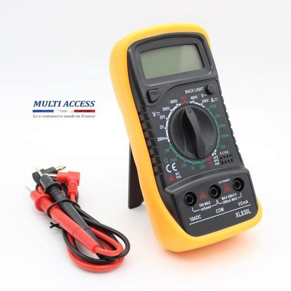 2 Multimètre Numérique Digital XL830L Voltmètre Testeur Electrique digital écran LCD 600V