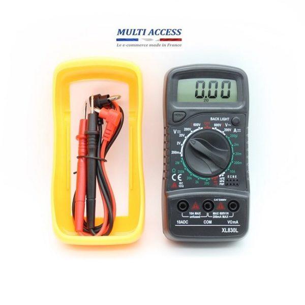4 Multimètre Numérique Digital XL830L Voltmètre Testeur Electrique digital écran LCD 600V