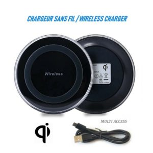 Chargeur à induction QI sans fil pour Iphone 8 X XS XR Galaxy S6 S7 S8 S8+ S9 S9+ Multi access