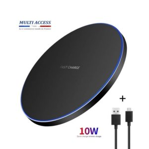 Chargeur sans fil induction 10W Charge Rapide universel pour iPhone Samsung Huawei QI