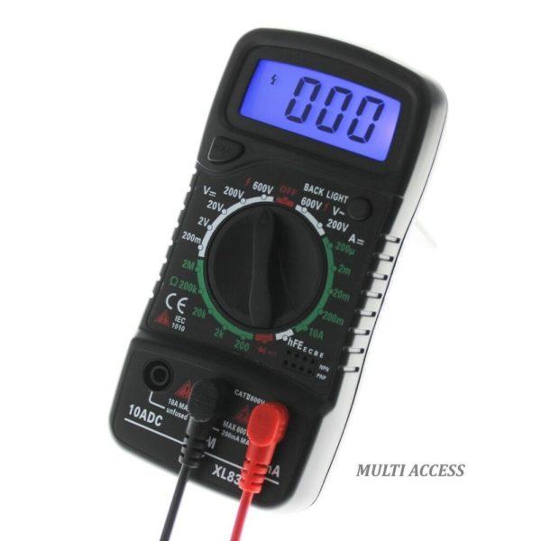 Multimètre Numérique Digital XL830L voltmètre ampèremètre ohmmètre- Multi-access.fr 3
