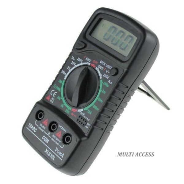 Multimètre Numérique Digital XL830L voltmètre ampèremètre ohmmètre- Multi-access.fr 4