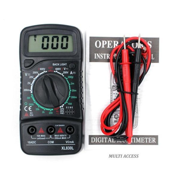 Multimètre Numérique Digital XL830L voltmètre ampèremètre ohmmètre- Multi-access.fr 6