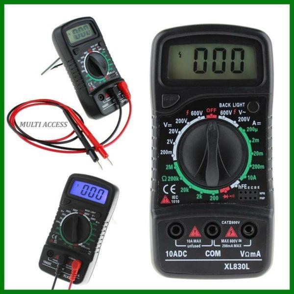Multimètre Numérique Digital XL830L voltmètre ampèremètre ohmmètre- Multi-access.fr