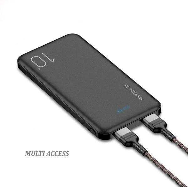 Batterie Externe, Powerbank, Chargeur Portable, Batterie de Secours 10000 mAh 2 ports USB(2)
