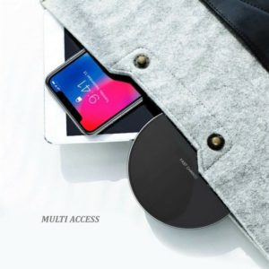 Chargeur sans Fil QI 10 W Charge Rapide pour iPhone 8/X/XS/XR Samsung S8/S9/S10