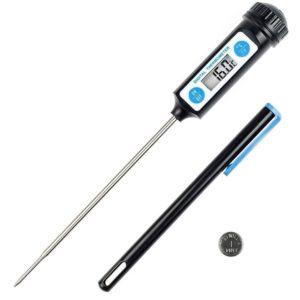 Thermomètre de Cuisson – Cuisine Numérique Digital Sonde Inox alimentaire + Pile