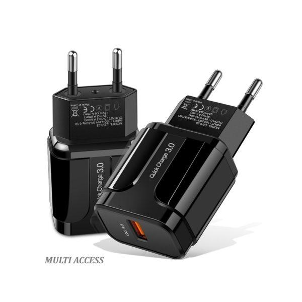 hargeur secteur 1X USB Adaptateur universel charge rapide 2