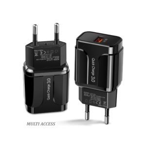 Chargeur secteur 1X USB 3A 18W Adaptateur universel charge rapide 3.0