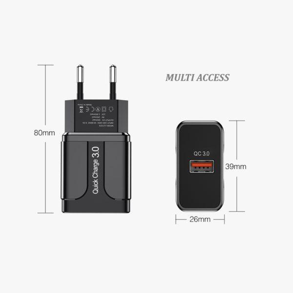 Chargeur secteur 1X USB Adaptateur universel charge rapide 4