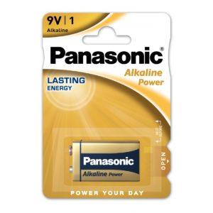 Pile 9V Panasonic Alkaline Power 6LF22 X1