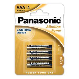 Pile AAA Panasonic Alkaline Power LR03-1.5V X4