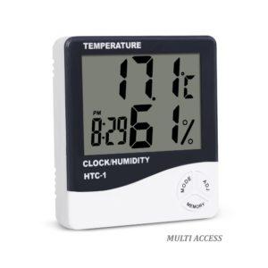 Thermomètre Hygromètre Numérique Digital Température Humidité Max/Min Heure
