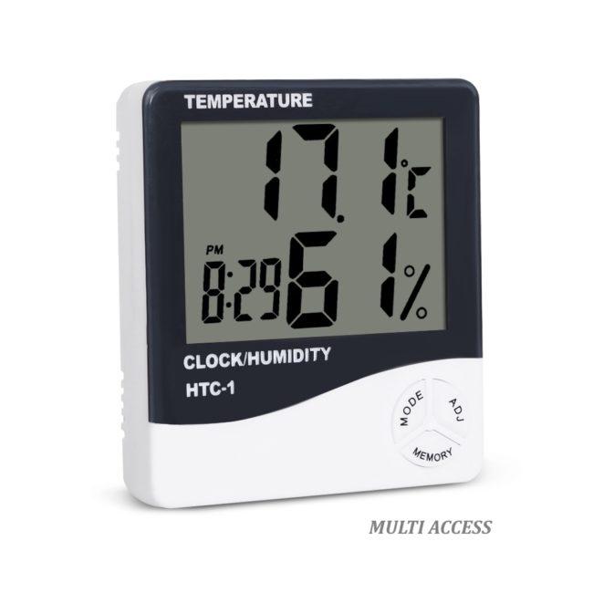 Thermomètre Hygromètre Numérique Digital Température Humidité MaxMin Heure