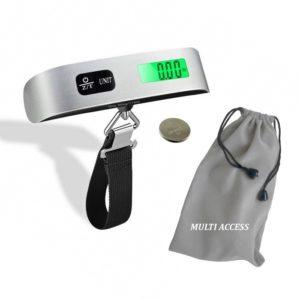 Pèse Bagage Electronique Peson Portable Balance Numérique 50kg LCD Rétro-éclairé