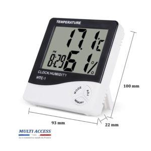 Horloge thermomètre hygromètre Max/Min digital calendrier