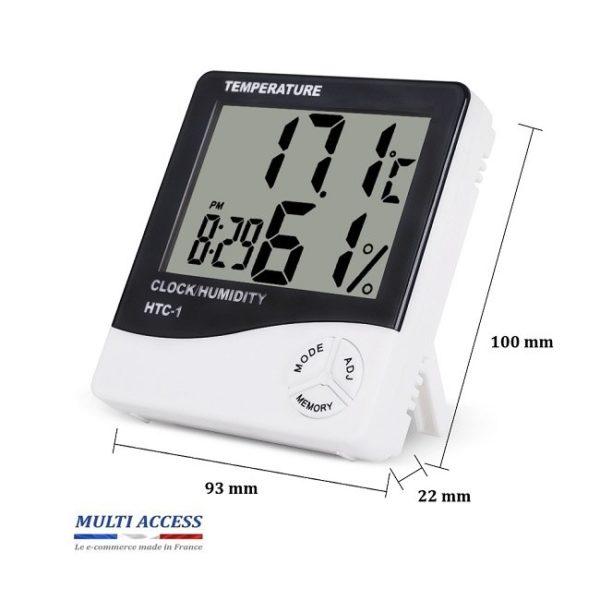 Horloge thermomètre hygromètre MaxMin digital calendrier 2