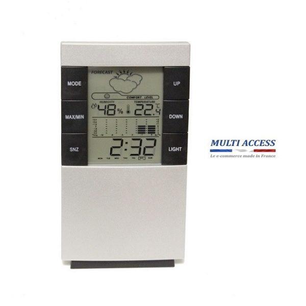 Station météo sans fil Thermomètre intérieur Hygromètre Horloge Digital 2