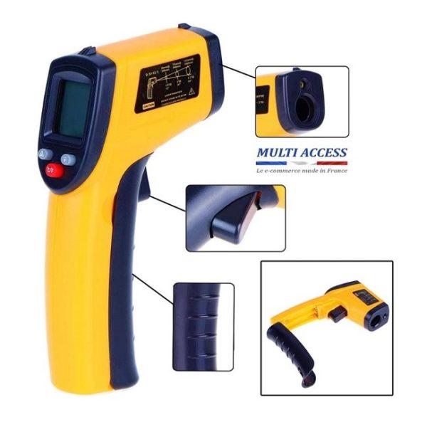 Thermomètre Infrarouge laser IR mesure température -50°C à 400°C 3